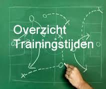 Trainingsschema vanaf maandag 8 juni 2020